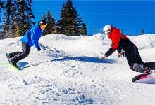 Snowboarding Moguls
