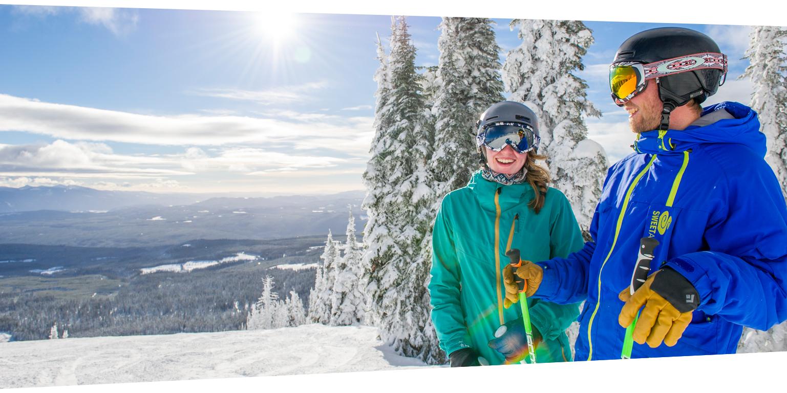 Skiers Angled