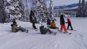 nothinbutsnow snowboarders bluebird day at big white