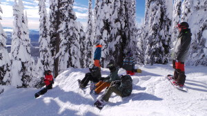 Bluebird snowboarding NothinButSnow