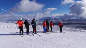 Bluebird skiing with NothinButSnow