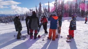 NothinButSnow snowboarders practice teaching