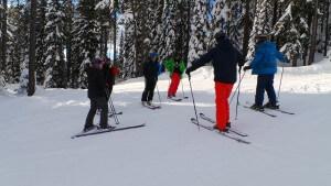 nothinbtsnow skier bluebird day at big white