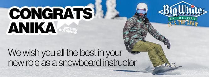 Big White Snowboard Instructor