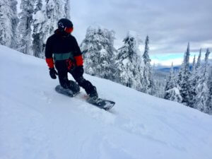 snowboard instructor course in Big White